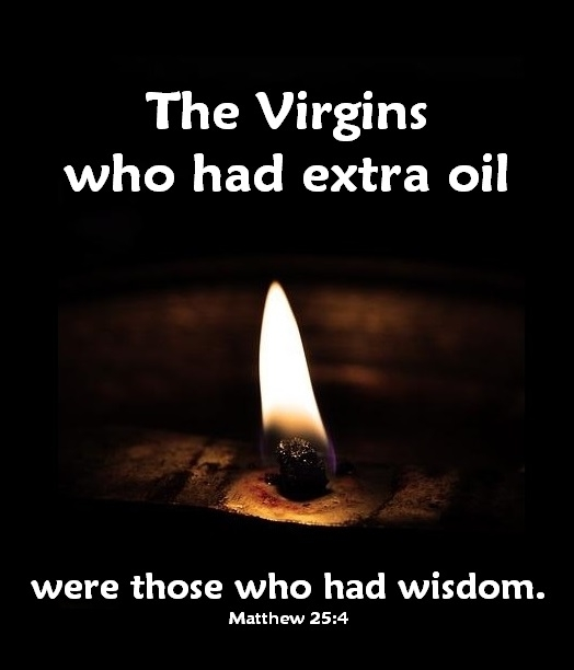 oil with Matthew verse